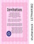 pink vintage invitation...   Shutterstock .eps vector #1379449382