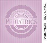 pediatrics retro pink emblem   Shutterstock .eps vector #1379476952