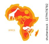 africa. map of africa continent ... | Shutterstock .eps vector #1379478782
