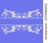 vector vintage floral ...   Shutterstock .eps vector #1379482052
