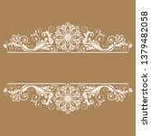 vector vintage floral ...   Shutterstock .eps vector #1379482058