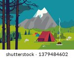 mountain camping background... | Shutterstock .eps vector #1379484602