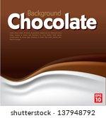 chocolate background | Shutterstock .eps vector #137948792