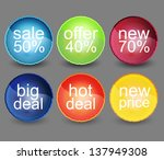 web sale badges and stickers | Shutterstock .eps vector #137949308