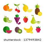fruit flat icons set. colorful... | Shutterstock .eps vector #1379493842