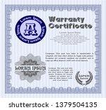 blue vintage warranty...   Shutterstock .eps vector #1379504135