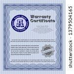 blue vintage warranty template. ...   Shutterstock .eps vector #1379504165