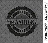 smashing realistic dark emblem   Shutterstock .eps vector #1379504198