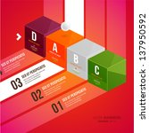 modern infographic template for ... | Shutterstock .eps vector #137950592