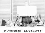 book recipes copy space. man...   Shutterstock . vector #1379521955