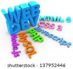 tools web site development uses ... | Shutterstock . vector #137952446