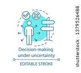 decision making under... | Shutterstock .eps vector #1379526488