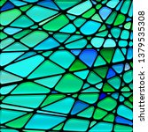abstract vector stained glass... | Shutterstock .eps vector #1379535308