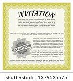 yellow retro vintage invitation....   Shutterstock .eps vector #1379535575