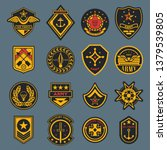 set of isolated army badges or... | Shutterstock .eps vector #1379539805