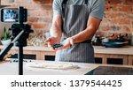 social media influencer. food... | Shutterstock . vector #1379544425