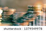 double exposure of city night... | Shutterstock . vector #1379549978