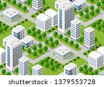 urban isometric area with... | Shutterstock .eps vector #1379553728
