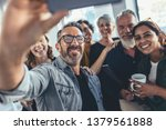 group of happy people taking... | Shutterstock . vector #1379561888