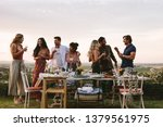 group of friends having drinks... | Shutterstock . vector #1379561975