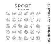 set line icons of sport | Shutterstock .eps vector #1379562548