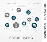 credit rating layout template ... | Shutterstock .eps vector #1379569388
