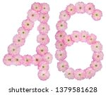 numeral 46  forty six  from... | Shutterstock . vector #1379581628