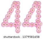 numeral 44  forty four  from... | Shutterstock . vector #1379581658
