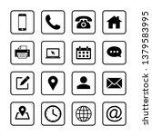 web icons set. web design icon. ... | Shutterstock .eps vector #1379583995