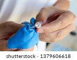 jeweller hand polishing and...   Shutterstock . vector #1379606618