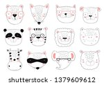 vector collection of cute...   Shutterstock .eps vector #1379609612