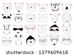 vector collection of cute...   Shutterstock .eps vector #1379609618