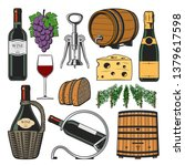 winemaking and winery icons.... | Shutterstock .eps vector #1379617598
