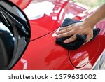 Man\'s Hand Cleaning Car And...