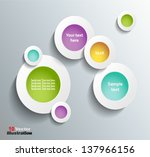 modern business circle origami... | Shutterstock .eps vector #137966156