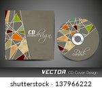abstract cd cover design for... | Shutterstock .eps vector #137966222