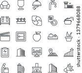 thin line icon set   baggage... | Shutterstock .eps vector #1379668088