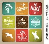 set of summer   surfing design  ... | Shutterstock .eps vector #137967236