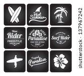set of summer   surfing design  ...   Shutterstock .eps vector #137967242