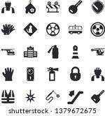solid vector icon set   builder ... | Shutterstock .eps vector #1379672675