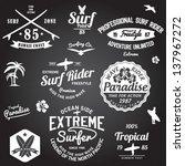 set of summer   surfing design  ... | Shutterstock .eps vector #137967272