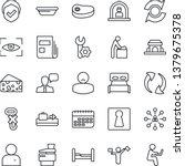 thin line icon set   dispatcher ... | Shutterstock .eps vector #1379675378