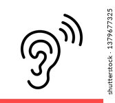 ear vector icon  hearing symbol.... | Shutterstock .eps vector #1379677325