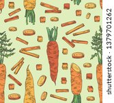 seamless pattern with carrot ... | Shutterstock .eps vector #1379701262