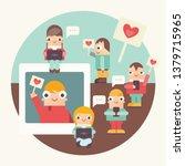social networking concept  ... | Shutterstock .eps vector #1379715965