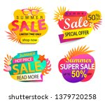 set of summer sale and discount ... | Shutterstock .eps vector #1379720258