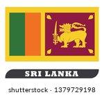 flag of sri lanka | Shutterstock .eps vector #1379729198
