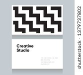 business card template with... | Shutterstock .eps vector #1379737802