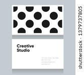 business card template with... | Shutterstock .eps vector #1379737805