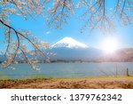 mount fuji in the morning  the... | Shutterstock . vector #1379762342